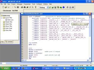 mplab_ledon_code